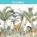 Papel De Parede - animais africano floral