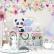 Papel De Parede - Flores Pintadas, Borboletas e Animais