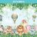 Papel De Parede - Animais do Safari com Balões