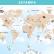 Papel De Parede - Mapa Mundi Dos Animais