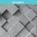 Papel De Parede - Superfície cinza 3d com quadrados