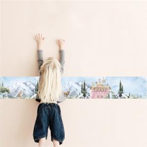 Faixa Fabulous Castles menina Vinil 0,010mm - Autocolante Sob medida- Impressão Digital - Fosco - Tamanho de 1,00x0,15cm Todas as Imagens são MERAMENTE ILUSTRATIVAS.