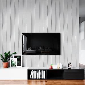Papel De Parede - Abstrato da parede moderna Vinil 0,010mm - Autocolante Sob medida - Padrão Impressão Digital - Fosco - Divididos em Rolos de 50cm - Todas as Imagens são MERAMENTE ILUSTRATIVAS.