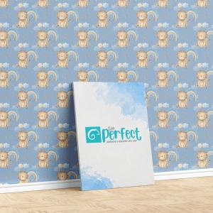 Papel De Parede - Baby Tiger Nursery Mod.2 Vinil 0,010mm - Autocolante Sob medida - Padrão Impressão Digital - Fosco - Divididos em Rolos de 50cm - Todas as Imagens são MERAMENTE ILUSTRATIVAS.