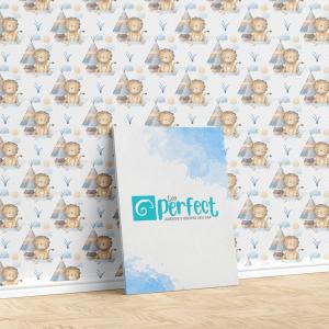 Papel De Parede - Baby Tiger Nursery Mod.6 Vinil 0,010mm - Autocolante Sob medida - Padrão Impressão Digital - Fosco - Divididos em Rolos de 50cm - Todas as Imagens são MERAMENTE ILUSTRATIVAS.