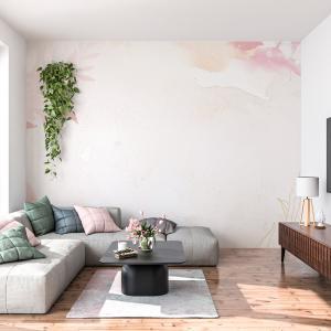Papel De Parede - borda rosa de fundo de flor Vinil 0,010mm - Autocolante Sob medida - Painel Impressão Digital - Fosco - Divididos em Rolos de 50cm - Todas as Imagens são MERAMENTE ILUSTRATIVAS.