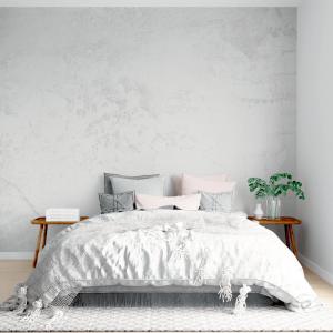 Papel De Parede - Branco sujo de cimento Vinil 0,010mm - Autocolante Sob medida - Painel Impressão Digital - Fosco - Divididos em Rolos de 50cm - Todas as Imagens são MERAMENTE ILUSTRATIVAS.
