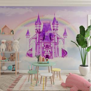 Papel De Parede - Castelo de Princesa Vinil 0,010mm - Autocolante Sob medida - Painel Impressão Digital - Fosco - Divididos em Rolos de 50cm - Todas as Imagens são MERAMENTE ILUSTRATIVAS.