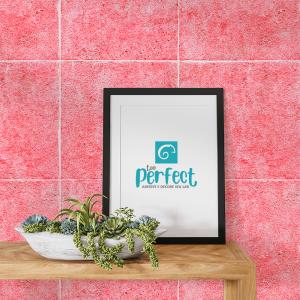 Papel De Parede - cerâmica rosa Vinil 0,010mm - Autocolante Sob medida - Padrão Impressão Digital Fosco - Liso Divididos em Rolos de 50cm Todas as Imagens são MERAMENTE ILUSTRATIVAS.