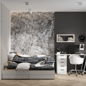Papel De Parede - Cimento parede texturizada Vinil 0,010mm - Autocolante Sob medida - Painel Impressão Digital - Fosco - Divididos em Rolos de 50cm - Todas as Imagens são MERAMENTE ILUSTRATIVAS.