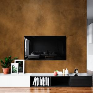 Papel De Parede - Concreto marrom laranja Vinil 0,010mm - Autocolante Sob medida - Painel Impressão Digital - Fosco - Divididos em Rolos de 50cm - Todas as Imagens são MERAMENTE ILUSTRATIVAS.