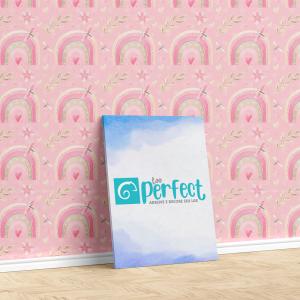 Papel De Parede - digital arco-íris rosa Mod. 1 Vinil 0,010mm - Autocolante Sob medida - Padrão Impressão Digital - Fosco - Divididos em Rolos de 50cm - Todas as Imagens são MERAMENTE ILUSTRATIVAS.