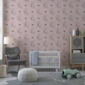 Papel De Parede - digital Boho Baby Nursery Mod. 10 Vinil 0,010mm - Autocolante Sob medida - Padrão Impressão Digital - Fosco - Divididos em Rolos de 50cm - Todas as Imagens são MERAMENTE ILUSTRATIVAS.