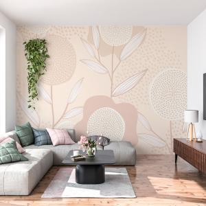 Papel De Parede - floral feminino Vinil 0,010mm - Autocolante Sob medida - Painel Impressão Digital - Fosco - Divididos em Rolos de 50cm - Todas as Imagens são MERAMENTE ILUSTRATIVAS.