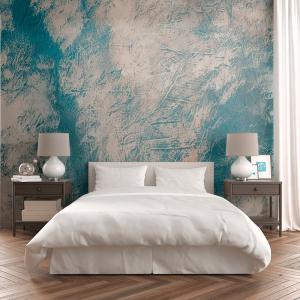 Papel De Parede - Fundo branco e azul Vinil 0,010mm - Autocolante Sob medida - Painel Impressão Digital - Fosco - Divididos em Rolos de 50cm - Todas as Imagens são MERAMENTE ILUSTRATIVAS.
