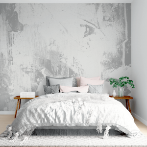 Papel De Parede - Fundo branco sujo de cimento natural Vinil 0,010mm - Autocolante Sob medida - Painel Impressão Digital - Fosco - Divididos em Rolos de 50cm - Todas as Imagens são MERAMENTE ILUSTRATIVAS.