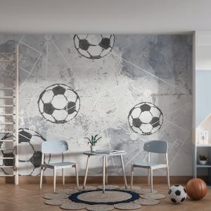 Papel De Parede - Futebol Vinil 0,010mm - Autocolante Sob medida - Painel Impressão Digital - Fosco - Divididos em Rolos de 50cm - Todas as Imagens são MERAMENTE ILUSTRATIVAS.