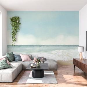 Papel De Parede - lápis de cor de praia Vinil 0,010mm - Autocolante Sob medida - Painel Impressão Digital - Fosco - Divididos em Rolos de 50cm - Todas as Imagens são MERAMENTE ILUSTRATIVAS.