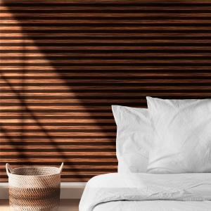 Papel De Parede - listras horizontais textura de madeira Vinil 0,010mm - Autocolante Sob medida - Padrão Impressão Digital Fosco - Liso Divididos em Rolos de 50cm Todas as Imagens são MERAMENTE ILUSTRATIVAS.