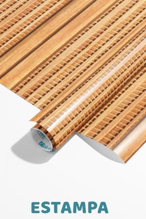Papel De Parede - Listras madeira mosaico longa vertical - ilustração 3D Vinil 0,010mm - Autocolante Sob medida - Padrão Impressão Digital Fosco - Liso Divididos em Rolos de 50cm Todas as Imagens são MERAMENTE ILUSTRATIVAS.