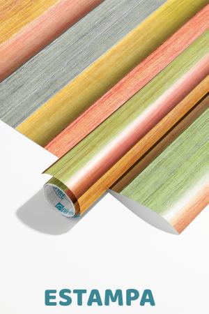 Papel De Parede - listras verticais coloridas longa - ilustração 3D Vinil 0,010mm - Autocolante Sob medida - Padrão Impressão Digital Fosco - Liso Divididos em Rolos de 50cm Todas as Imagens são MERAMENTE ILUSTRATIVAS.