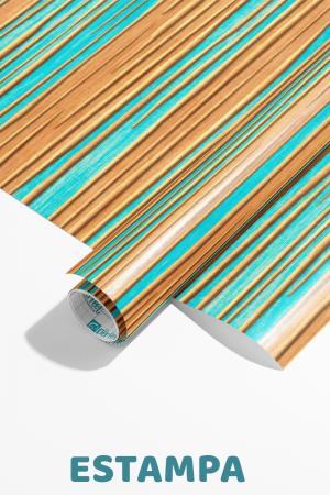 Papel De Parede - listras verticais mosaico, turquesa e marrom Vinil 0,010mm - Autocolante Sob medida - Padrão Impressão Digital Fosco - Liso Divididos em Rolos de 50cm Todas as Imagens são MERAMENTE ILUSTRATIVAS.