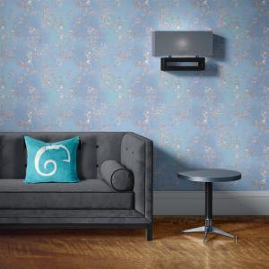 Papel De Parede - mármore azul e prata mod. 01 Vinil 0,010mm - Autocolante Sob medida - Padrão Impressão Digital - Fosco - Divididos em Rolos de 50cm - Todas as Imagens são MERAMENTE ILUSTRATIVAS.