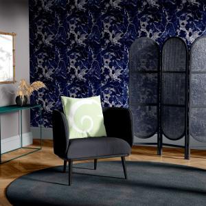 Papel De Parede - mármore azul e prata mod. 03 Vinil 0,010mm - Autocolante Sob medida - Padrão Impressão Digital - Fosco - Divididos em Rolos de 50cm - Todas as Imagens são MERAMENTE ILUSTRATIVAS.