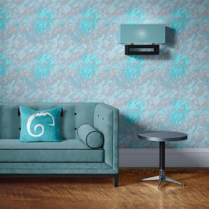 Papel De Parede - mármore azul e prata mod. 04 Vinil 0,010mm - Autocolante Sob medida - Padrão Impressão Digital - Fosco - Divididos em Rolos de 50cm - Todas as Imagens são MERAMENTE ILUSTRATIVAS.