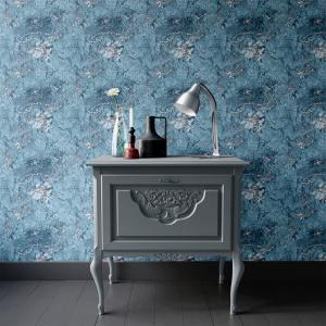 Papel De Parede - mármore azul e prata mod. 11 Vinil 0,010mm - Autocolante Sob medida - Padrão Impressão Digital - Fosco - Divididos em Rolos de 50cm - Todas as Imagens são MERAMENTE ILUSTRATIVAS.