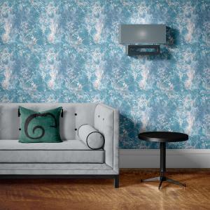 Papel De Parede - mármore azul e prata mod. 14 Vinil 0,010mm - Autocolante Sob medida - Padrão Impressão Digital - Fosco - Divididos em Rolos de 50cm - Todas as Imagens são MERAMENTE ILUSTRATIVAS.