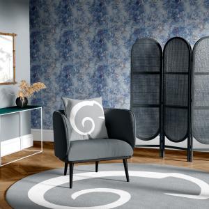 Papel De Parede - mármore azul e prata mod. 15 Vinil 0,010mm - Autocolante Sob medida - Padrão Impressão Digital - Fosco - Divididos em Rolos de 50cm - Todas as Imagens são MERAMENTE ILUSTRATIVAS.
