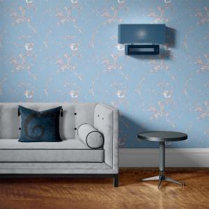 Papel De Parede - mármore azul e prata mod. 16 Vinil 0,010mm - Autocolante Sob medida - Padrão Impressão Digital - Fosco - Divididos em Rolos de 50cm - Todas as Imagens são MERAMENTE ILUSTRATIVAS.