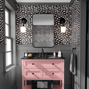 Papel De Parede - mármore e rosa dourado mod. 09 Vinil 0,010mm - Autocolante Sob medida - Painel Impressão Digital - Todas as Imagens são MERAMENTE ILUSTRATIVAS. Fosco - Divididos em Rolos de 50cm - Criação da Designer Karamfilas da Academia de Artes da Bulgária