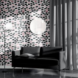 Papel De Parede - mármore e rosa dourado mod. 11 Vinil 0,010mm - Autocolante Sob medida - Painel Impressão Digital - Todas as Imagens são MERAMENTE ILUSTRATIVAS. Fosco - Divididos em Rolos de 50cm - Criação da Designer Karamfilas da Academia de Artes da Bulgária