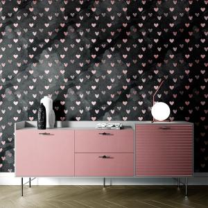 Papel De Parede - mármore e rosa dourado mod. 12 Vinil 0,010mm - Autocolante Sob medida - Painel Impressão Digital - Todas as Imagens são MERAMENTE ILUSTRATIVAS. Fosco - Divididos em Rolos de 50cm - Criação da Designer Karamfilas da Academia de Artes da Bulgária