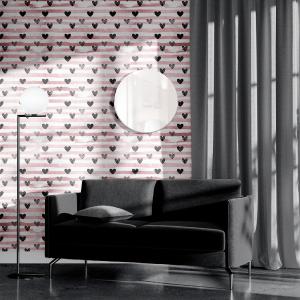 Papel De Parede - mármore e rosa dourado mod. 13 Vinil 0,010mm - Autocolante Sob medida - Painel Impressão Digital - Todas as Imagens são MERAMENTE ILUSTRATIVAS. Fosco - Divididos em Rolos de 50cm - Criação da Designer Karamfilas da Academia de Artes da Bulgária
