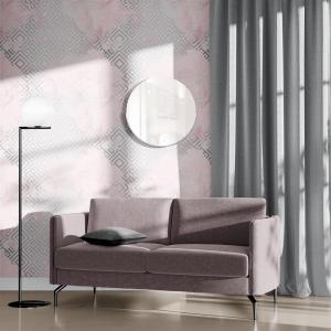 Papel De Parede - mármore e rosa dourado mod. 26 Vinil 0,010mm - Autocolante Sob medida - Painel Impressão Digital - Todas as Imagens são MERAMENTE ILUSTRATIVAS. Fosco - Divididos em Rolos de 50cm - Criação da Designer Karamfilas da Academia de Artes da Bulgária
