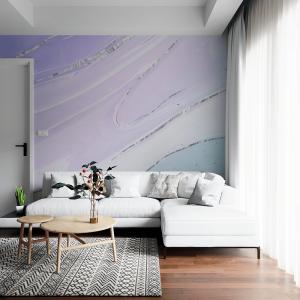 Papel De Parede - mármore líquido com textura de brilho Vinil 0,010mm - Autocolante Sob medida - Painel Impressão Digital - Fosco - Divididos em Rolos de 50cm - Todas as Imagens são MERAMENTE ILUSTRATIVAS.