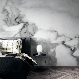 Papel De Parede - mármore preto e branco Vinil 0,010mm - Autocolante Sob medida - Painel Impressão Digital - Fosco - Divididos em Rolos de 50cm - Todas as Imagens são MERAMENTE ILUSTRATIVAS.