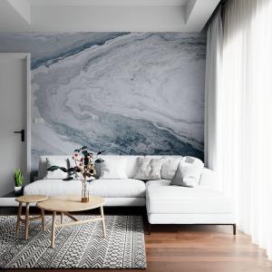 Papel De Parede - mesa marmorizada Vinil 0,010mm - Sob medida - Impressão Digital - Fosco - Divididos em Rolos de 50cm - Todas as Imagens são MERAMENTE ILUSTRATIVAS.