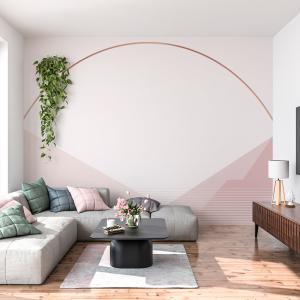 Papel De Parede - montanha rosa nu Vinil 0,010mm - Autocolante Sob medida - Painel Impressão Digital - Fosco - Divididos em Rolos de 50cm - Todas as Imagens são MERAMENTE ILUSTRATIVAS.