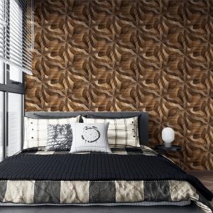Papel De Parede - Painéis 3D de madeira de carvalho Vinil 0,010mm - Autocolante Sob medida - Padrão Impressão Digital Fosco - Liso Divididos em Rolos de 50cm Todas as Imagens são MERAMENTE ILUSTRATIVAS.