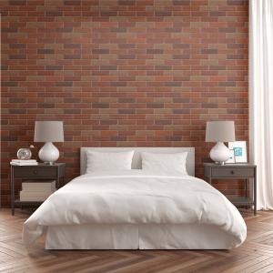 Papel De Parede - parede de tijolo marrom Mod. 2 Vinil 0,010mm - Sob medida - Impressão Digital - Fosco - Divididos em Rolos de 50cm - Todas as Imagens são MERAMENTE ILUSTRATIVAS.