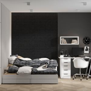 Papel De Parede - parede de tijolo preto Vinil 0,010mm - Sob medida - Impressão Digital - Fosco - Divididos em Rolos de 50cm - Todas as Imagens são MERAMENTE ILUSTRATIVAS.
