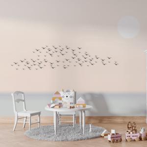 Papel De Parede - Pássaros no Céu Vinil 0,010mm - Sob medida - Impressão Digital - Fosco - Divididos em Rolos de 50cm - Todas as Imagens são MERAMENTE ILUSTRATIVAS.