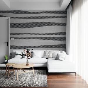 Papel De Parede - Porcelanato cinza e branco com linhas cinza Vinil 0,010mm - Autocolante Sob medida - Painel Impressão Digital - Fosco - Divididos em Rolos de 50cm - Todas as Imagens são MERAMENTE ILUSTRATIVAS.