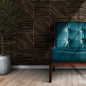 Papel De Parede - quadrado na textura de madeira grunge Vinil 0,010mm - Autocolante Sob medida - Padrão Impressão Digital Fosco - Liso Divididos em Rolos de 50cm Todas as Imagens são MERAMENTE ILUSTRATIVAS.