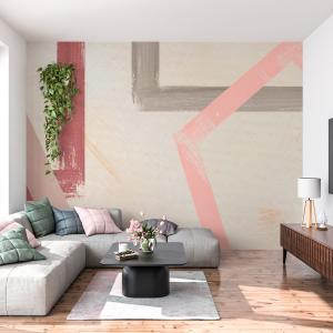 Papel De Parede - quadro pintado colorido Vinil 0,010mm - Autocolante Sob medida - Painel Impressão Digital - Fosco - Divididos em Rolos de 50cm - Todas as Imagens são MERAMENTE ILUSTRATIVAS.