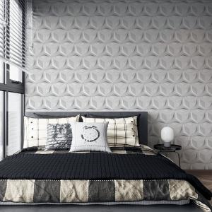Papel De Parede - Relevo 3d branca em arquitetura de mosaico Vinil 0,010mm - Autocolante Sob medida - Padrão Impressão Digital Fosco - Liso Divididos em Rolos de 50cm Todas as Imagens são MERAMENTE ILUSTRATIVAS.